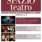 Spazio Teatro, tre pomeriggi teatrali