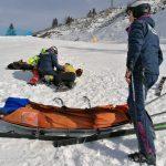 Brutta caduta sulle piste da sci dello Zoncolan, trauma cranico per un 40enne