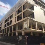 Verso la fine dei lavori di palazzo Eden a Udine: svelata la facciata