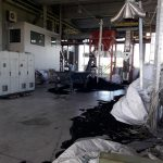 Incendio a Coseano, oltre 70 chili di gomma a fuoco