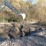 Trova una bomba mentre è a cercare funghi lungo le pendici del monte Calvario