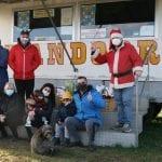 La solidarietà non si ferma a San Daniele, Babbo Natale in visita al circo bloccato