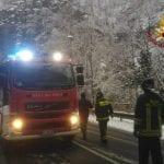 Neve, alberi e pali della luce caduti, decine di interventi in Friuli