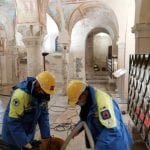 Si allaga la cripta degli affreschi della Basilica di Aquileia per il maltempo