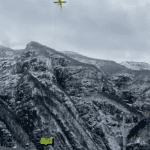 Gli aiuti per le frazioni della Val Raccolana viaggiano in elicottero