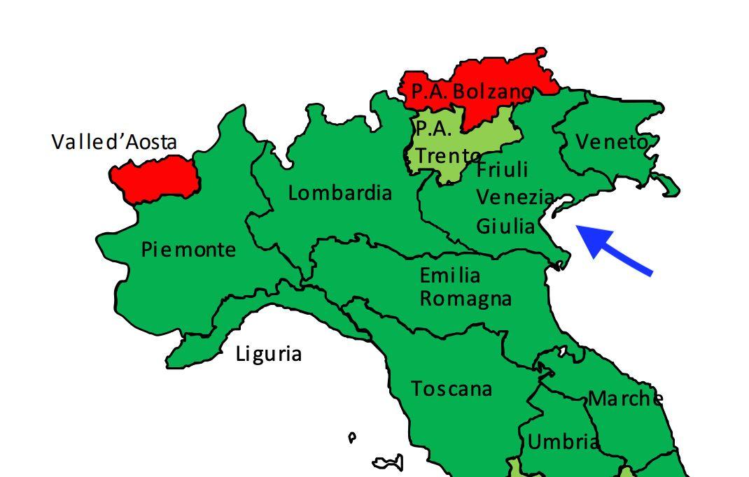 Marche Cartina Italia.Il Fvg Nella Mappa Al Posto Del Veneto La Gaffe Del Ministero Della Salute