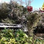 Non solo neve, gli alberi bloccano il fiume Ausà a Cervignano