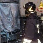 Macchinario in fiamme, allarme in un'azienda di Rivignano