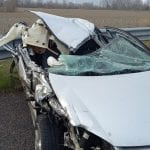 Scontro tra auto e camion in autostrada a Gemona, conducente miracolato