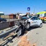 Violento scontro tra auto e furgone a Ronchis, padre e figlia finiscono in ospedale