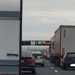 Lavori per la terza corsia, lunghe code in autostrada fra Latisana e San Stino