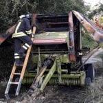 Rotopresse prendono fuoco, allarme nelle campagne di Remanzacco e Fagagna