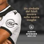 Il marchio del prosciutto di San Daniele sarà sponsor sulle maglie dell'Udinese