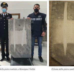 Ritrovata l'antica pietra di una tomba portata via da una chiesa di Udine