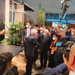 Visita a sorpresa del presidente Mattarella alla Fantoni al Supersalone