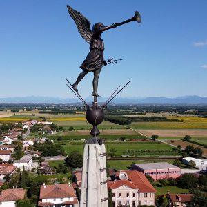 Ricostruita la storia dell'Angelo sopra il campanile di Premariacco