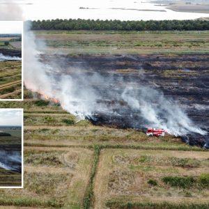 Incendio nelle campagne di Aquileia, ora si cercano le cause. Non esclude il dolo