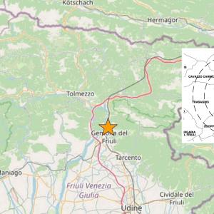 Lieve scossa di terremoto avvertita nei dintorni di Bordano
