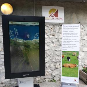 Scendono a valle le bovine,  ma in malga Montasio resterà un totem digitale