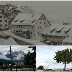 Cime imbiancate in Friuli, lo spettacolo mozzafiato della neve in montagna