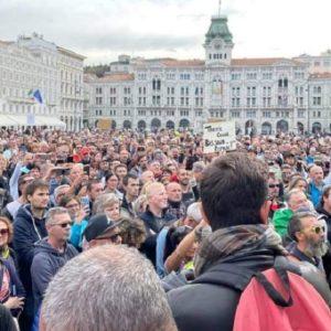 Proteste contro il Green Pass in Fvg, a Trieste nasce il coordinamento unico