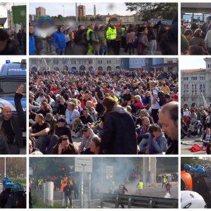 Proteste contro il green pass, giornata di tensione a Trieste. E la politica si divide