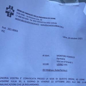 Video shock sul Covid a Udine, l'Ordine bacchetta il farmacista