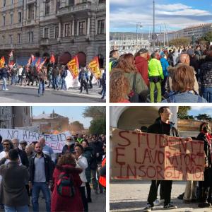 Il Friuli non si ferma per lo sciopero generale, la giornata di proteste contro il green pass